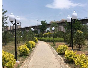 寿阳公园庭院灯由金三普承接施工完成